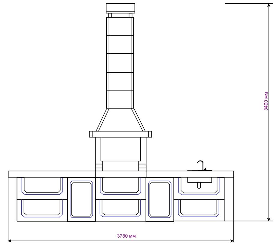Проект №3 печи-барбекю