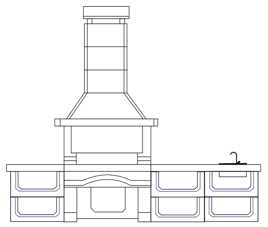 Проект №5 печи-барбекю