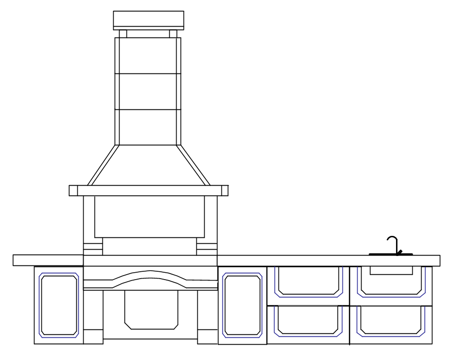 Проект №6 печи-барбекю