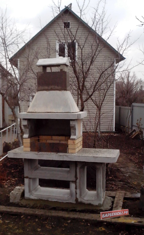 Камин-печь-барбекю на даче